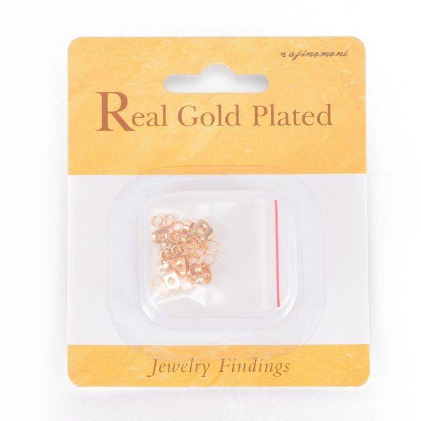 98825a834475556bd3c831660462092e Real 18K Gold Plating Brass Ear Nuts, Earring Backs, Lead Free & Cadmium Free & Nickel Free, 6x4.5x3mm, Hole: 0.8mm, 20 pcs/ bag