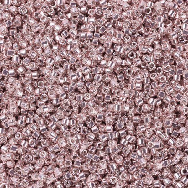 SEED J020 DB0418 1 MIYUKI Delica Beads 11/0, (DB0418) Galvanized Blush, 1.3x1.6mm, Hole: 0.8mm; about 2000pcs/10g