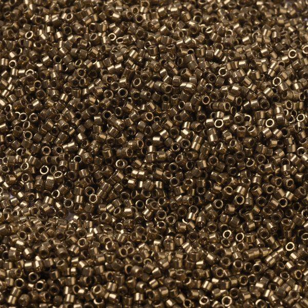 X SEED J020 DB0022L 1 MIYUKI Delica Beads 11/0, (DB0022L) Metallic Light Bronze, 1.3x1.6mm, Hole: 0.8mm; about 2000pcs/10g