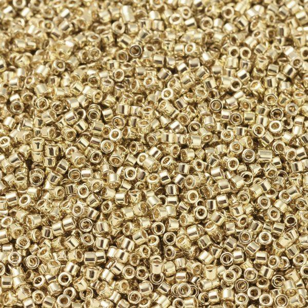 X SEED J020 DB0034 1 MIYUKI DB0034 Delica Beads 11/0 - Opaque Gold Light Plated, 10g/bag