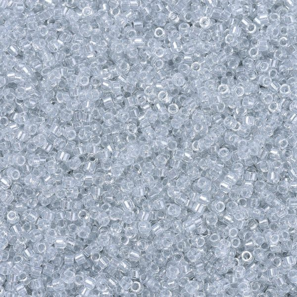 X SEED J020 DB0271 1 MIYUKI Delica Beads 11/0, (DB0271) Sparkling Silver Gray Lined Crystal, 1.3x1.6mm, Hole: 0.8mm; about 2000pcs/10g