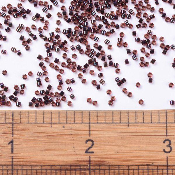 X SEED J020 DB0297 2 MIYUKI Delica Beads 11/0, (DB0297) Garnet Lined Ruby AB, 1.3x1.6mm, Hole: 0.8mm; about 2000pcs/10g