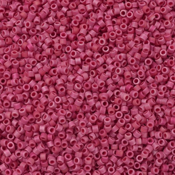 X SEED J020 DB0362 1 MIYUKI Delica Beads 11/0, (DB0362) Matte Opaque Red Luster, 1.3x1.6mm, Hole: 0.8mm; about 2000pcs/10g