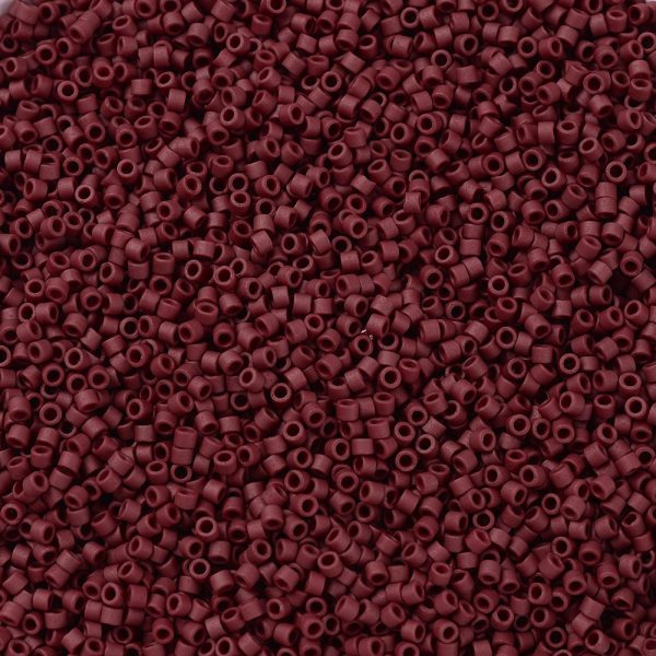 X SEED J020 DB0378 1 MIYUKI Delica Beads 11/0, (DB0378) Matte Metallic Brick Red, 1.3x1.6mm, Hole: 0.8mm; about 2000pcs/10g