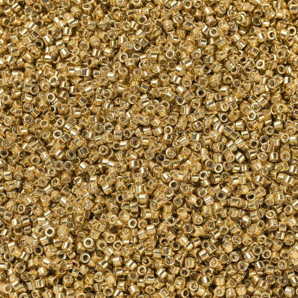 X SEED J020 DB0410 1 MIYUKI Delica Beads 11/0, (DB0410) Galvanized Yellow Gold, 1.3x1.6mm, Hole: 0.8mm; about 2000pcs/10g