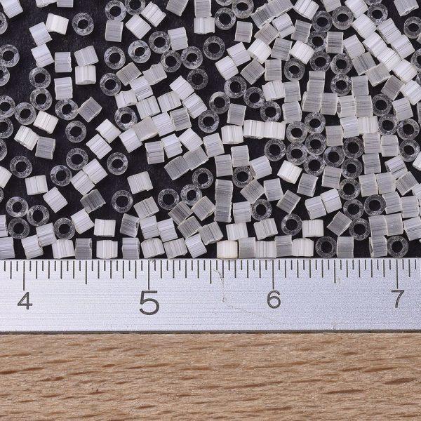 X SEED J020 DB0673 2 MIYUKI Delica Beads 11/0, (DB0673) Antique Ivory Silk Satin, 1.3x1.6mm, Hole: 0.8mm; about 2000pcs/10g