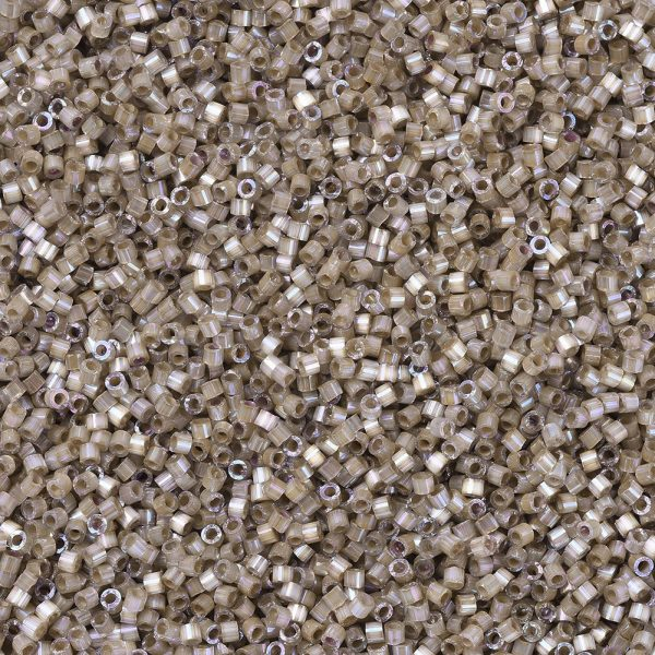 X SEED J020 DB0680 1 MIYUKI Delica Beads 11/0, (DB0680) Dyed Smokey Quartz Silk Satin, 1.3x1.6mm, Hole: 0.8mm; about 2000pcs/10g