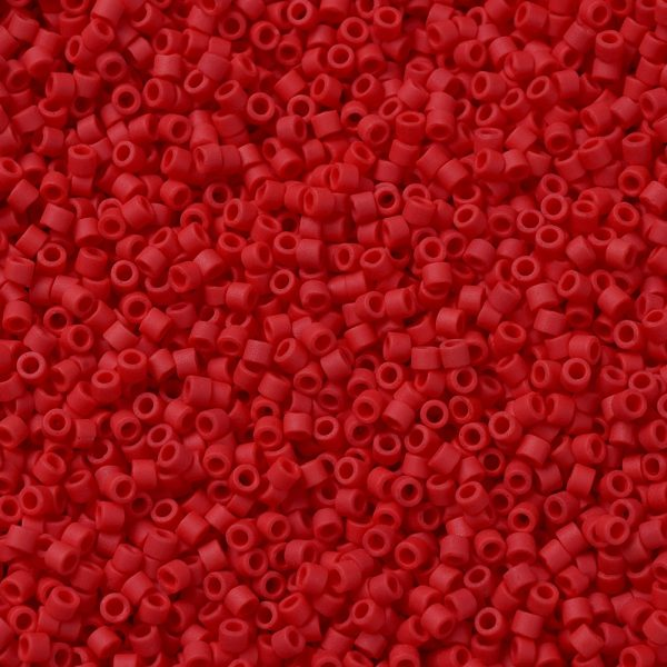 X SEED J020 DB0753 1 MIYUKI Delica Beads 11/0, (DB0753) Matte Opaque Red, 1.3x1.6mm, Hole: 0.8mm; about 2000pcs/10g