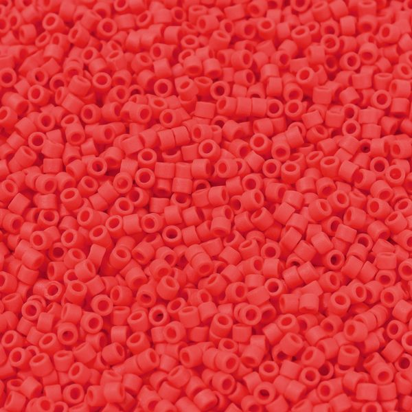 X SEED J020 DB0757 1 MIYUKI Delica Beads 11/0, (DB0757) Matte Opaque Vermillion Red, 1.3x1.6mm, Hole: 0.8mm; about 2000pcs/10g