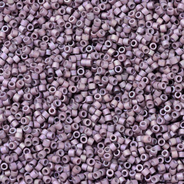 X SEED J020 DB1064 1 MIYUKI Delica Beads 11/0, (DB1064) Matte Metallic Orchid Gold Iris, 1.3x1.6mm, Hole: 0.8mm; about 2000pcs/10g