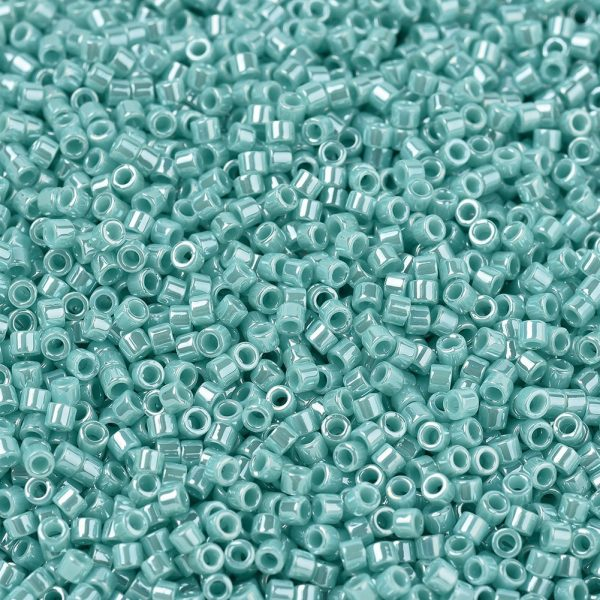 X SEED J020 DB1567 1 MIYUKI Delica Beads 11/0, (DB1567) Opaque Sea Opal Luster, 1.3x1.6mm, Hole: 0.8mm; about 2000pcs/10g