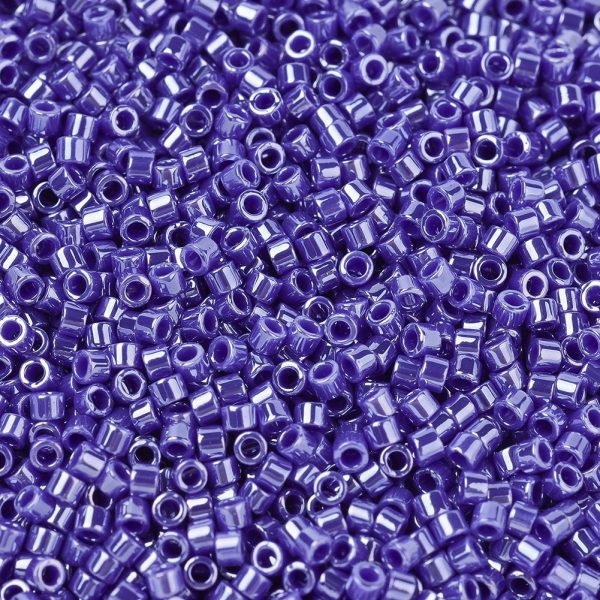 X SEED J020 DB1569 1 MIYUKI Delica Beads 11/0, (DB1569) Opaque Cyan Blue Luster, 1.3x1.6mm, Hole: 0.8mm; about 2000pcs/10g