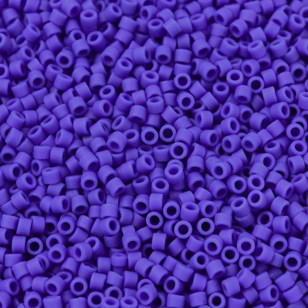 X SEED J020 DB1588 1 MIYUKI Delica Beads 11/0, (DB1588) Matte Opaque Cyan Blue, 1.3x1.6mm, Hole: 0.8mm; about 2000pcs/10g
