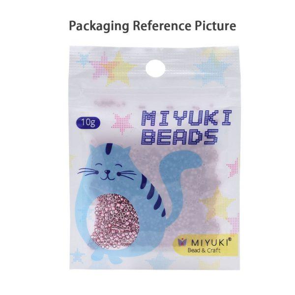 X SEED J020 DB1778 4 MIYUKI Delica Beads 11/0, (DB1778) White Lined Topaz AB, 1.3x1.6mm, Hole: 0.8mm; about 2000pcs/10g