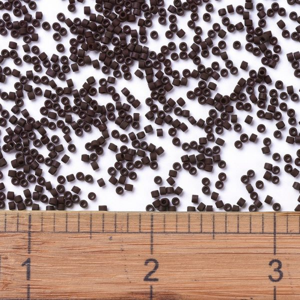 X SEED J020 DB1910 2 MIYUKI Delica Beads 11/0, (DB1910) Matte Opaque Espresso, 1.3x1.6mm, Hole: 0.8mm; about 2000pcs/10g