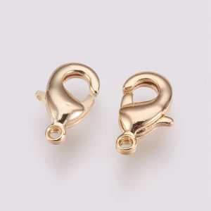 Gold Plated Brass Lobster Claw Clasps, Nickel Free