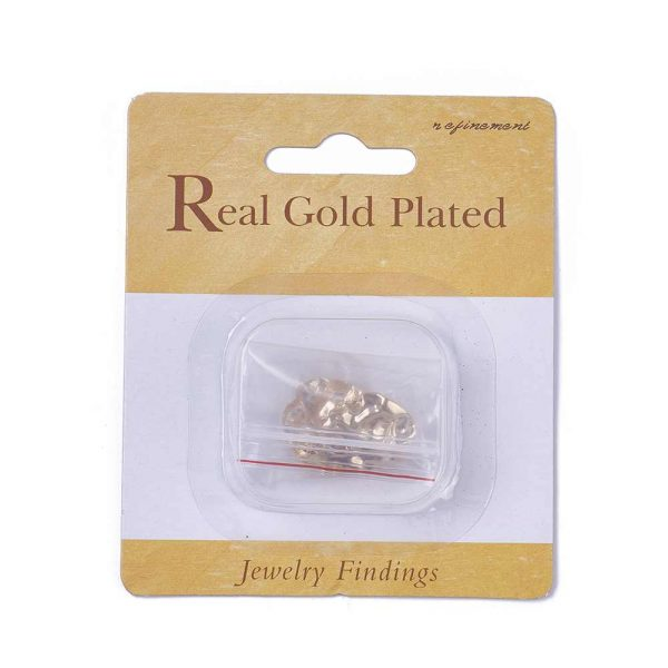 cb90978bd0d5015c986c47df5c63d560 Real 18K Gold Plated Brass Flat Round Earring Studs with Loop, Nickel Free, 18.5x19mm, Hole: 2mm; Pin: 0.8mm, 2 pcs/ bag