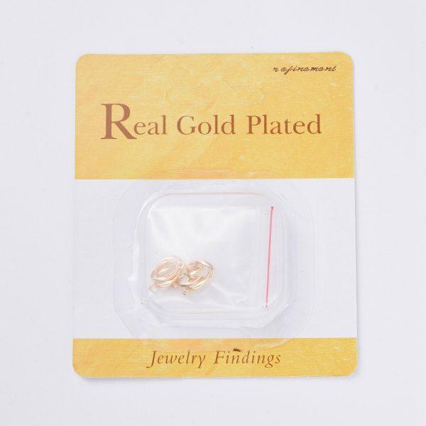 e2ebc0c4afe20f3b7cb060dcda2961c0 Real 18K Gold Plated Brass Twist Oval Links Connectors, Nickel Free, 29x6x1mm, Hole: 1mm, 2 pcs/ bag