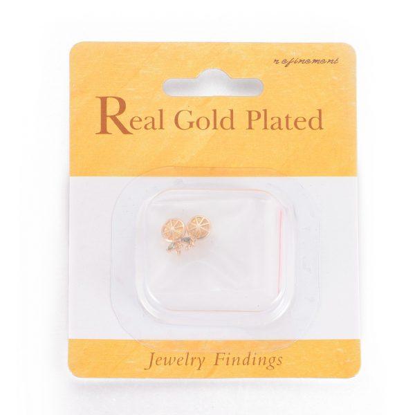 f5c2177c60d990c8cb206294d1c5c468 Real 18K Gold Plated Brass Lemon Pendants, Cubic Zirconia Charms, 11.5x7.5x4.5mm, Hole: 1.2mm, 2 pcs/ bag