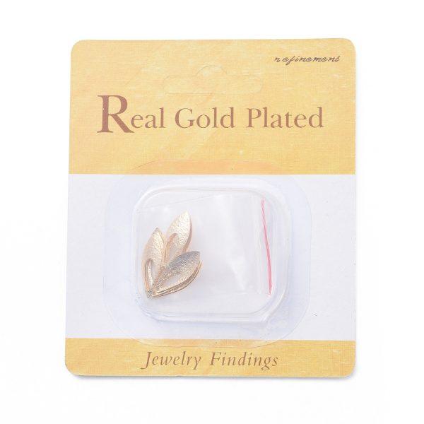 f6409451a751803c125b22505c57285a Real 18K Gold Plated Brass Horse Eye Pendants, Nickel Free, 18.5x7x1mm, Hole: 1mm, 10 pcs/ bag