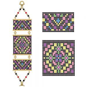 Luminous colors Bracelet Pattern