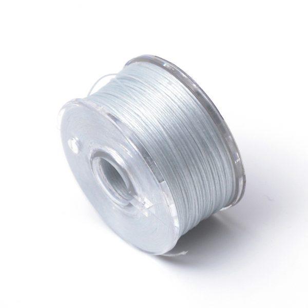 OCOR R038 03 Japanese FGB Cords Nylon String, Miyuki Elastic Beading Thread, 0.1mm Diameter, Light Steel Blue, Sold per 50-yard Spool