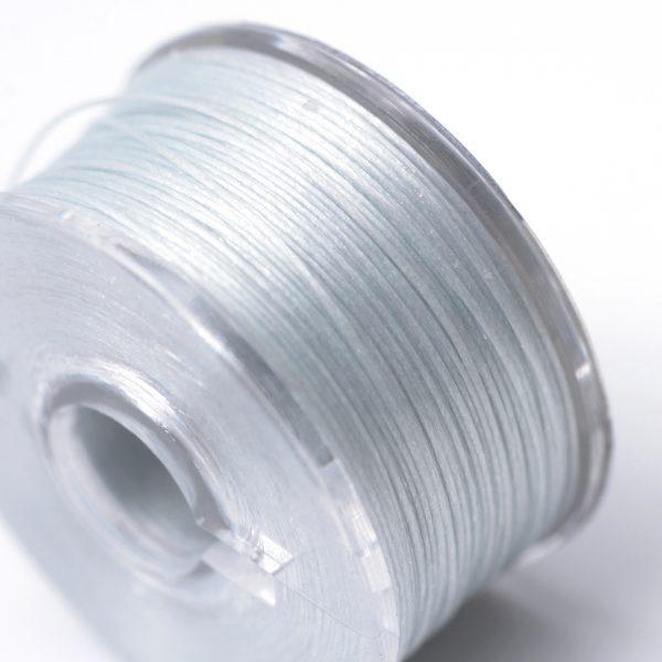 OCOR R038 03 1 Japanese FGB Cords Nylon String, Miyuki Elastic Beading Thread, 0.1mm Diameter, Light Steel Blue, Sold per 50-yard Spool