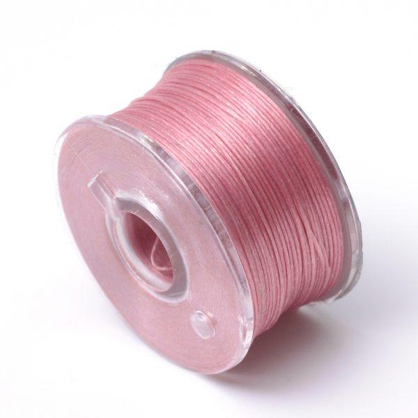 OCOR R038 07 Japanese FGB Cords Nylon String, Miyuki Elastic Beading Thread, 0.1mm Diameter, Pale Violet Red, Sold per 50-yard Spool