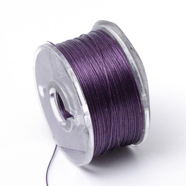 OCOR R038 09 Japanese FGB Cords Nylon String, Miyuki Elastic Beading Thread, 0.1mm Diameter, Purple, Sold per 50-yard Spool