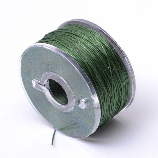 OCOR R038 11 Japanese FGB Cords Nylon String, Miyuki Elastic Beading Thread, 0.1mm Diameter, Dark Olive Green, Sold per 50-yard Spool