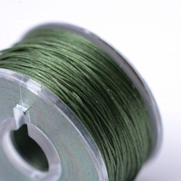 OCOR R038 11 1 Japanese FGB Cords Nylon String, Miyuki Elastic Beading Thread, 0.1mm Diameter, Dark Olive Green, Sold per 50-yard Spool