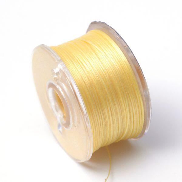 OCOR R038 13 Japanese FGB Cords Nylon String, Miyuki Elastic Beading Thread, 0.1mm Diameter, Gold, Sold per 50-yard Spool
