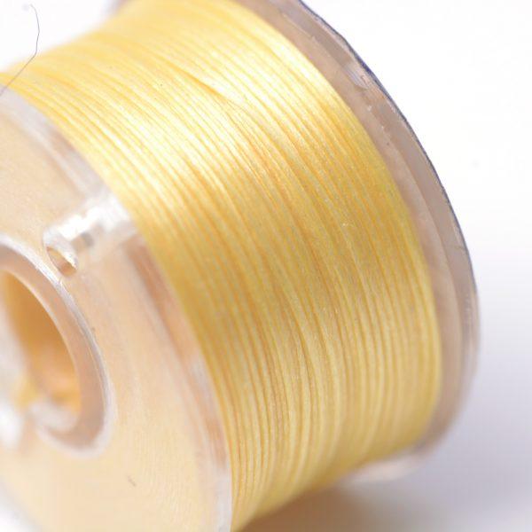 OCOR R038 13 1 Japanese FGB Cords Nylon String, Miyuki Elastic Beading Thread, 0.1mm Diameter, Gold, Sold per 50-yard Spool