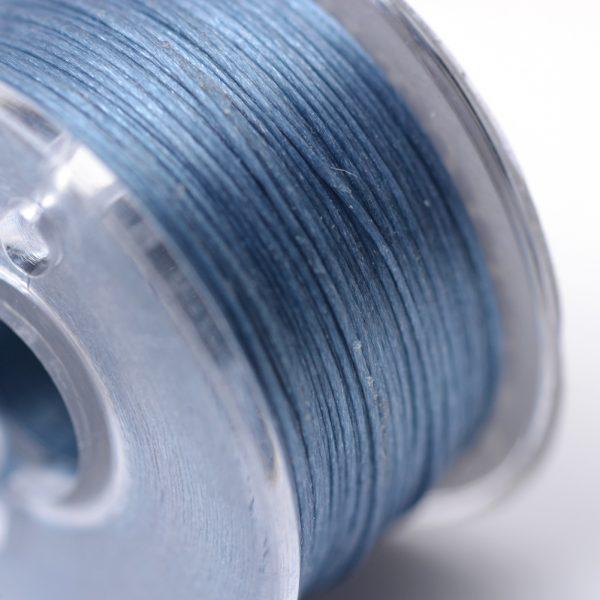 OCOR R038 17 1 Japanese FGB Cords Nylon String, Miyuki Elastic Beading Thread, 0.1mm Diameter, Steel Blue, Sold per 50-yard Spool