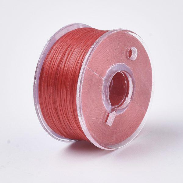 OCOR R038 21 Japanese FGB Cords Nylon String, Miyuki Elastic Beading Thread, 0.1mm Diameter, Red, Sold per 50-yard Spool