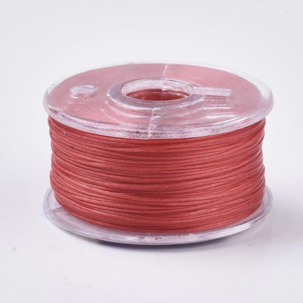 OCOR R038 21 1 Japanese FGB Cords Nylon String, Miyuki Elastic Beading Thread, 0.1mm Diameter, Red, Sold per 50-yard Spool