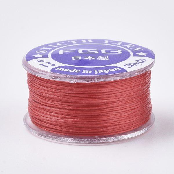 OCOR R038 21 2 Japanese FGB Cords Nylon String, Miyuki Elastic Beading Thread, 0.1mm Diameter, Red, Sold per 50-yard Spool