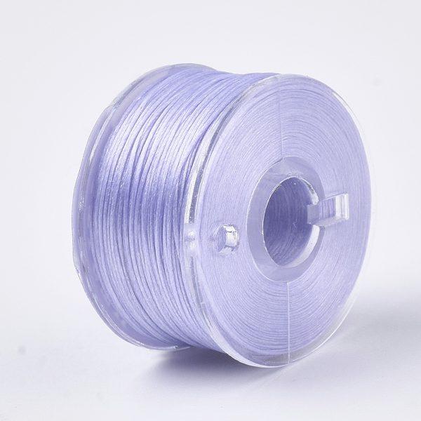 OCOR R038 22 Japanese FGB Cords Nylon String, Miyuki Elastic Beading Thread, 0.1mm Diameter, Lilac, Sold per 50-yard Spool