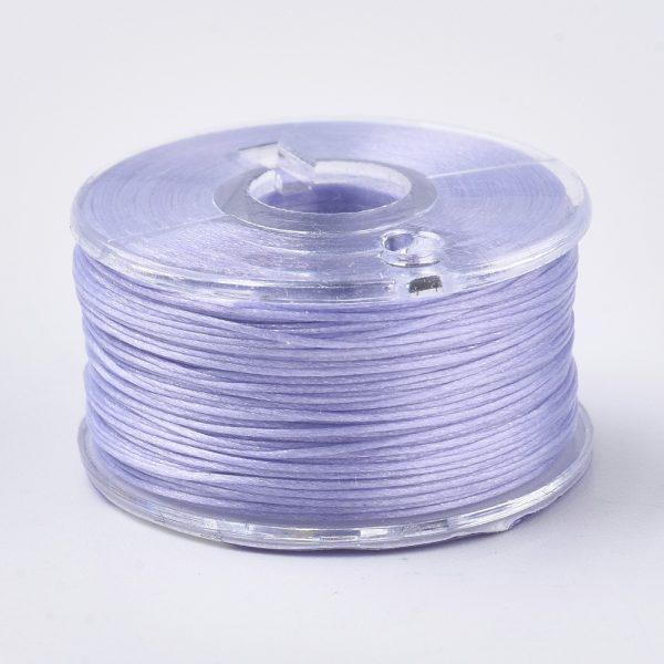 OCOR R038 22 1 Japanese FGB Cords Nylon String, Miyuki Elastic Beading Thread, 0.1mm Diameter, Lilac, Sold per 50-yard Spool