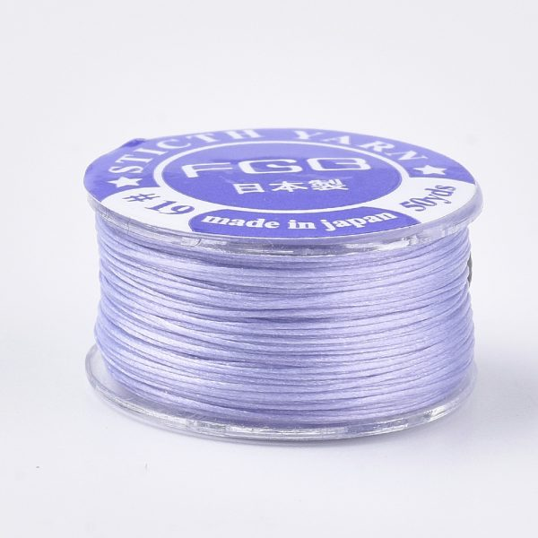 OCOR R038 22 2 Japanese FGB Cords Nylon String, Miyuki Elastic Beading Thread, 0.1mm Diameter, Lilac, Sold per 50-yard Spool
