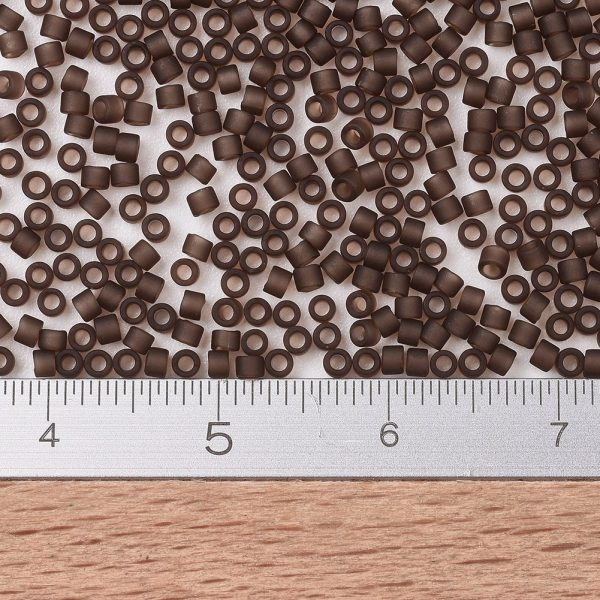 SEED J020 DB0769 2 MIYUKI Delica Beads 11/0, (DB0769) Matte Transparent Root Beer, 1.3x1.6mm, Hole: 0.8mm; about 2000pcs/10g