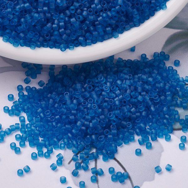X SEED J020 DB0768 3 MIYUKI Delica Beads 11/0, (DB0768) Matte Transparent Capri Blue, 1.3x1.6mm, Hole: 0.8mm; about 2000pcs/10g