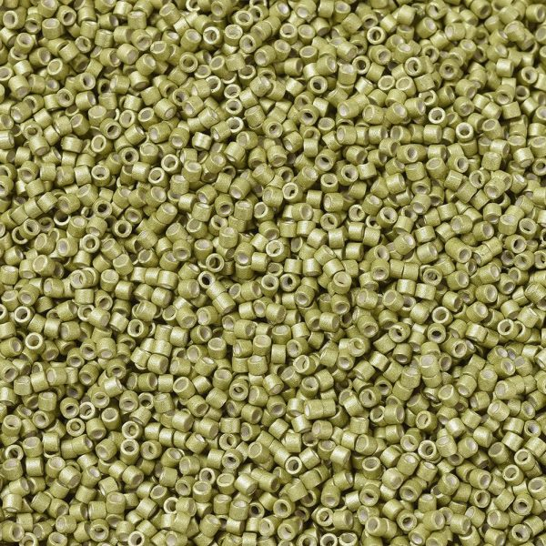 X SEED J020 DB1164 1 MIYUKI Delica Beads 11/0, (DB1164) Galvanized Matte Zest, 1.3x1.6mm, Hole: 0.8mm; about 2000pcs/10g