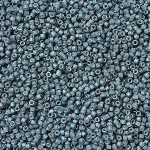 X SEED J020 DB1172 1 MIYUKI Delica Beads 11/0, (DB1172) Galvanized Matte Dark Aqua, 1.3x1.6mm, Hole: 0.8mm; about 2000pcs/10g