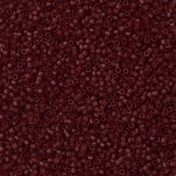 X SEED J020 DB1262 1 MIYUKI Delica Beads 11/0, (DB1262) Matte Transparent Dark Cranberry, 1.3x1.6mm, Hole: 0.8mm; about 2000pcs/10g