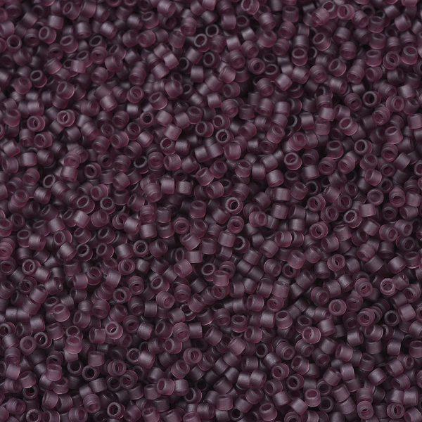X SEED J020 DB1264 1 MIYUKI Delica Beads 11/0, (DB1264) Matte Transparent Mauve, 1.3x1.6mm, Hole: 0.8mm; about 2000pcs/10g
