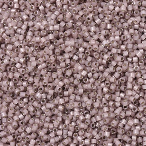 X SEED J020 DB1459 1 MIYUKI Delica Beads 11/0, (DB1459) Silver Lined Shell Opal, 1.3x1.6mm, Hole: 0.8mm; about 2000pcs/10g