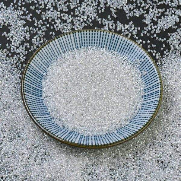X SEED J020 DB1671 MIYUKI Delica Beads 11/0, (DB1671) Pearl Lined Crystal AB, 1.3x1.6mm, Hole: 0.8mm; about 2000pcs/10g