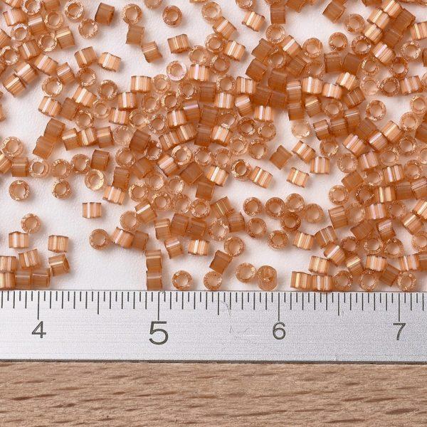 X SEED J020 DB1804 2 MIYUKI Delica Beads 11/0, (DB1804) Dyed Topaz Silk Satin, 1.3x1.6mm, Hole: 0.8mm; about 2000pcs/10g