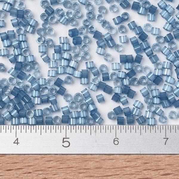 X SEED J020 DB1811 2 MIYUKI Delica Beads 11/0, (DB1811) Dyed Dusk Blue Silk Satin, 1.3x1.6mm, Hole: 0.8mm; about 2000pcs/10g